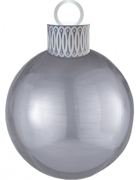 Ballon de Noël ballon argent 38 x 50cm