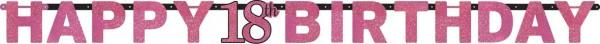 Pink 18th Birthday Girlande 2,13m