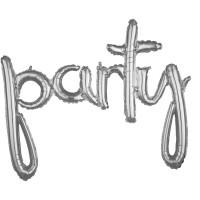 Silberner Party Schriftzug 99 x 78cm