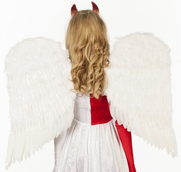 Alas de plumas blancas de lujo para damas ángel