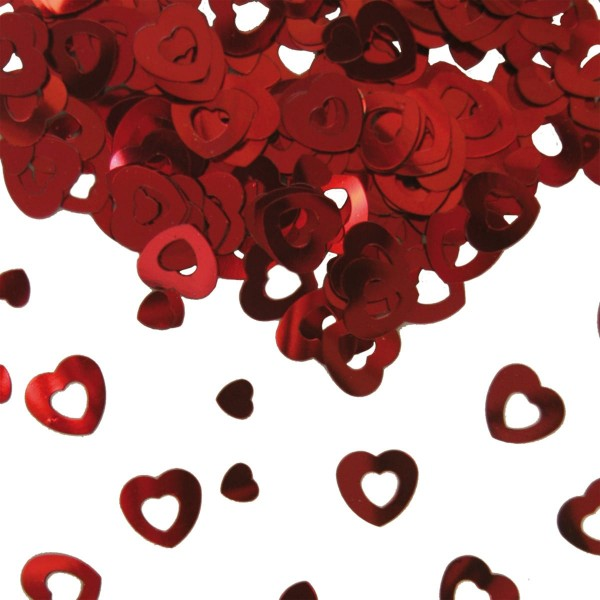 Table Confetti Hearts Red 14g
