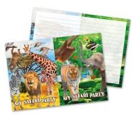 8 Einladungskarten Wild Safari