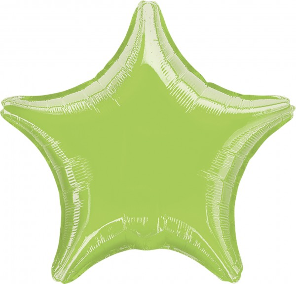 Sparkling Star balloon lime green