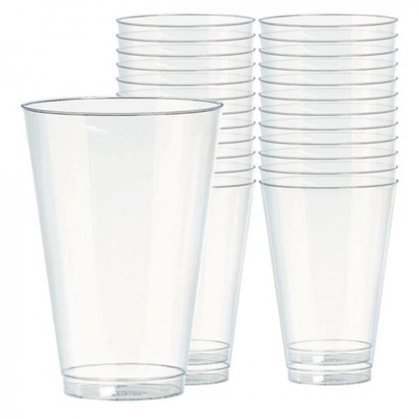 40 verres à long drink transparents 414ml
