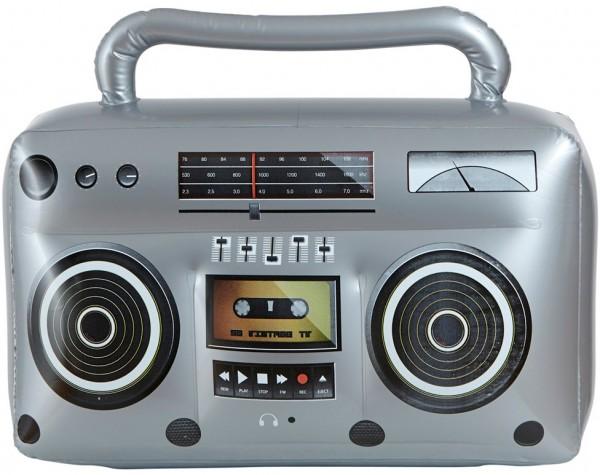 Grabadora de cassettes inflable radio 80s