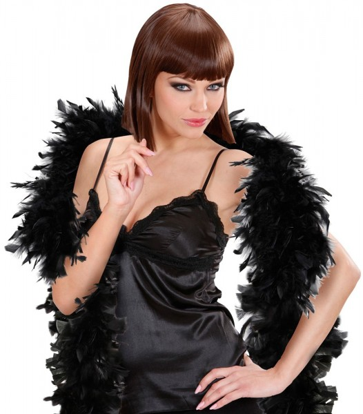 Black Feather Boa Deluxe 1.8m