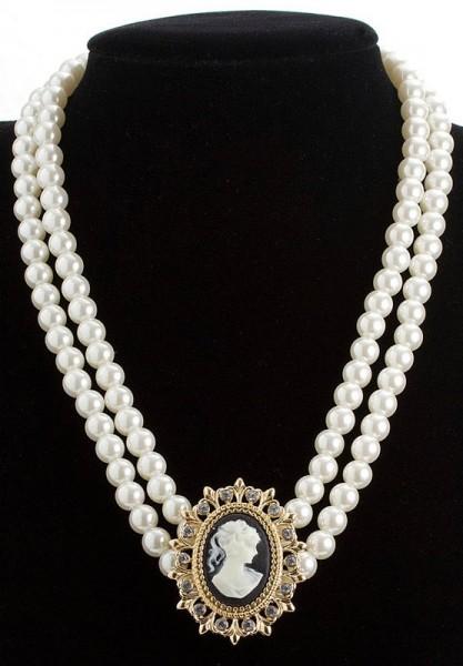 Rokoko Barock Perlen Halskette