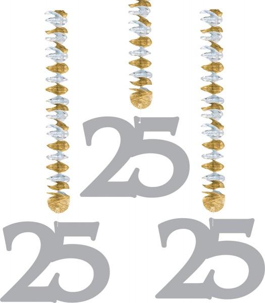3 spiral hangers silver 25