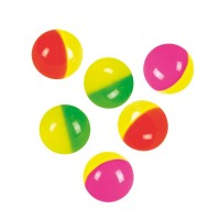 6 colorful bouncy balls
