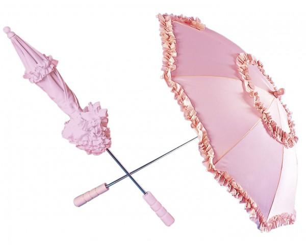 Liebevoller Barock Regenschirm Rosa