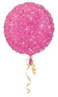 10 Edle Glitzer Diamant Folienballons in Pink