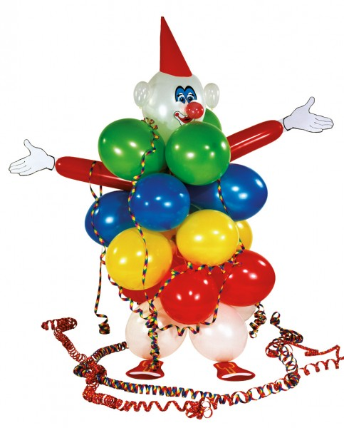 Luftballon Deko Set Lustiger Clown