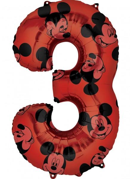 Mickey Mouse Zahl 3 Ballon 66cm
