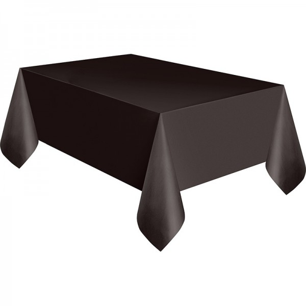 PVC tablecloth Vera black 2.74 x 1.37m