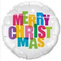 Merry Christmas Ballon 45cm