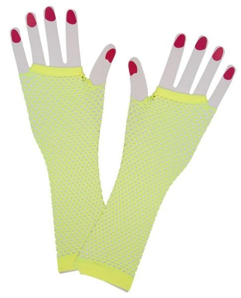 Netzhandschuhe Neon Gelb