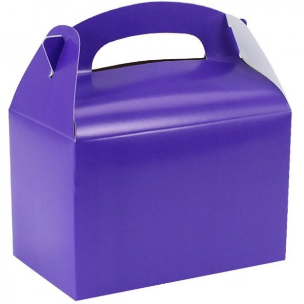 Gift box rectangular purple15cm