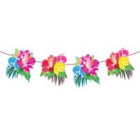Tropische Hibiskus Girlande 6m