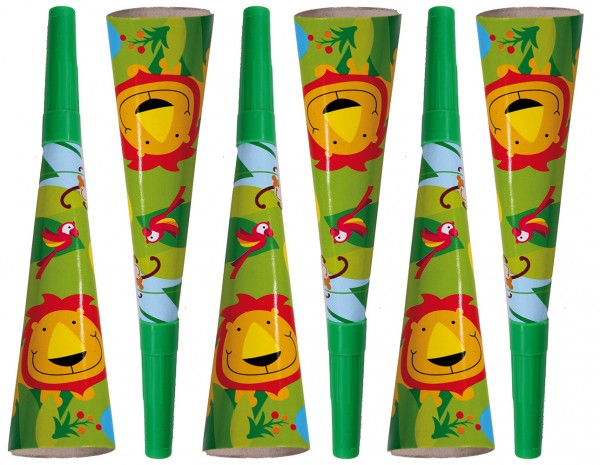 6 Happy Jungle Partytröten