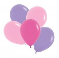 12 Luftballons Dahlia 3 Farben 30cm
