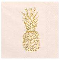 20 Aloha Sommer Ananas Servietten 33cm