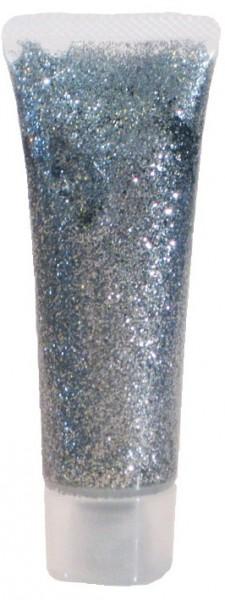 Silbernes Glitzer Gel 18ml