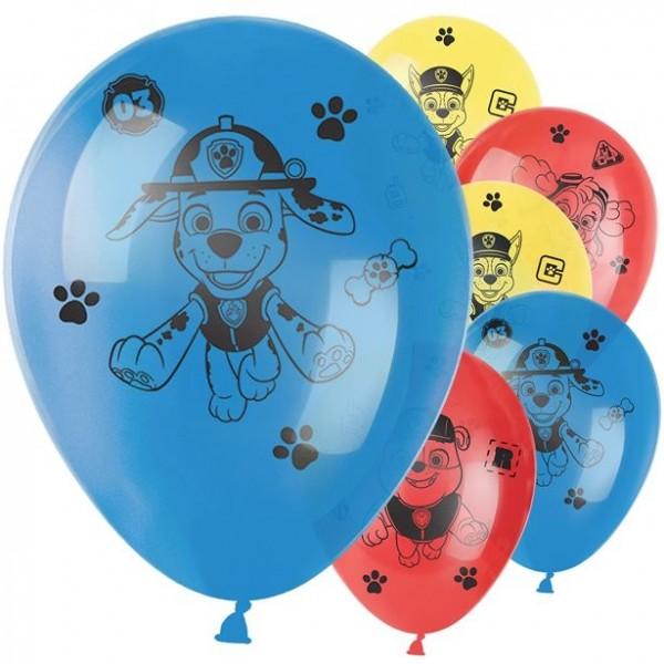 6 Happy Paw Patrol Latexballons 28cm