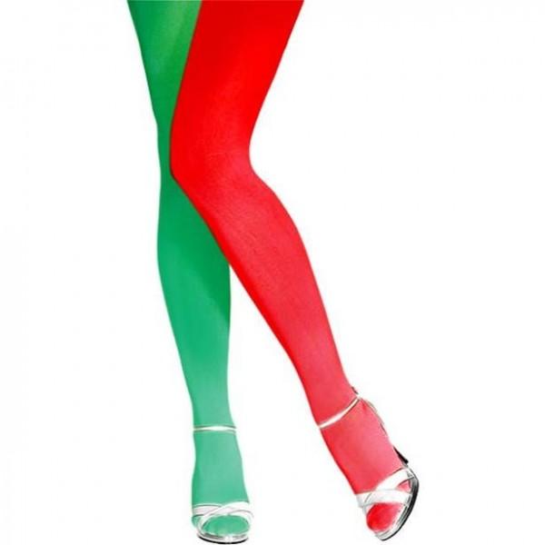 Weihnachtselfen Strumpfhose für Damen Einheitsgröße