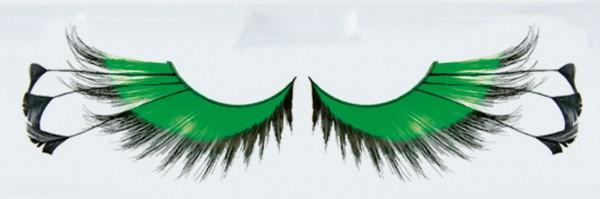 Grüne Federpuschel Wimpern