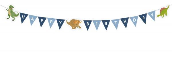 Gagliardetti Happy Birthday con dinosauri 1,8m