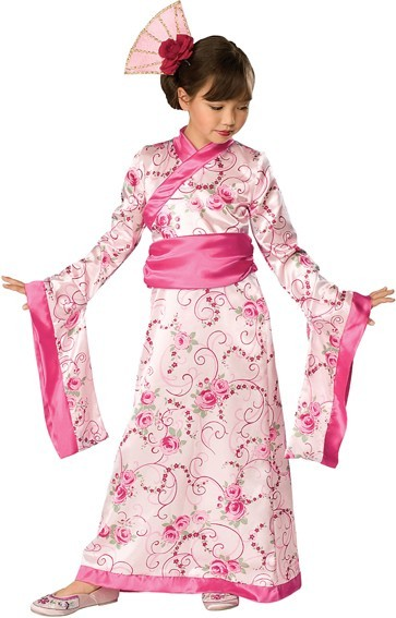 Kimono Geisha Kinderkostüm Rosa