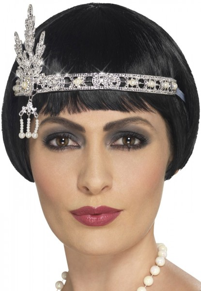 20's jewels headband silver
