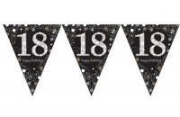 Vorschau: Golden 18th Birthday Wimpelkette 4m
