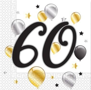 20 Golden Milestone 60 servetten