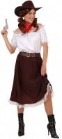 Cowgirl Kostüm 4-teilig