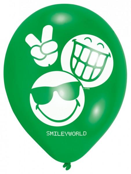 6 Be Emotional Smiley Luftballons 23 cm