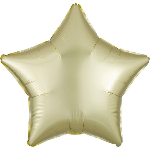 Satin Sternballon champagner 43cm