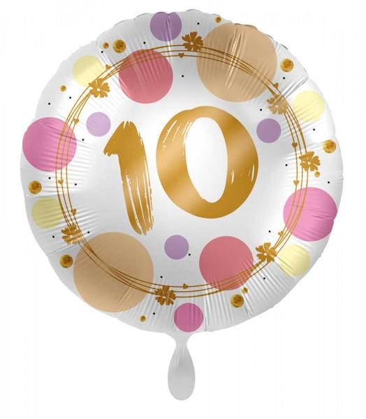 Ballon 10ème anniversaire Happy Dots 45cm