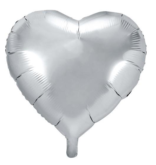 Balon foliowy Herzilein srebrny 45cm