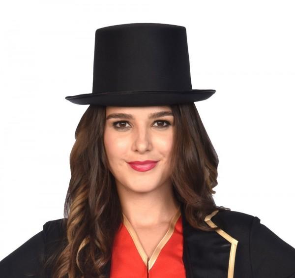 Cappello a cilindro nero per adulti