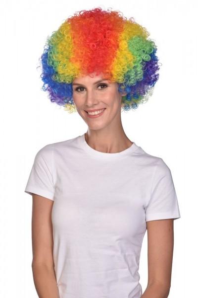 Perruque afro carnaval colorée