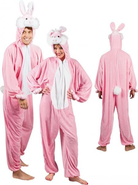 Różowy pluszowy kostium królika