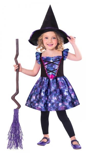 Costume strega mistica per bambina ecosostenibile