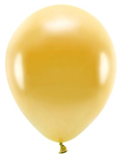 100 ballons éco métalliques or 26cm