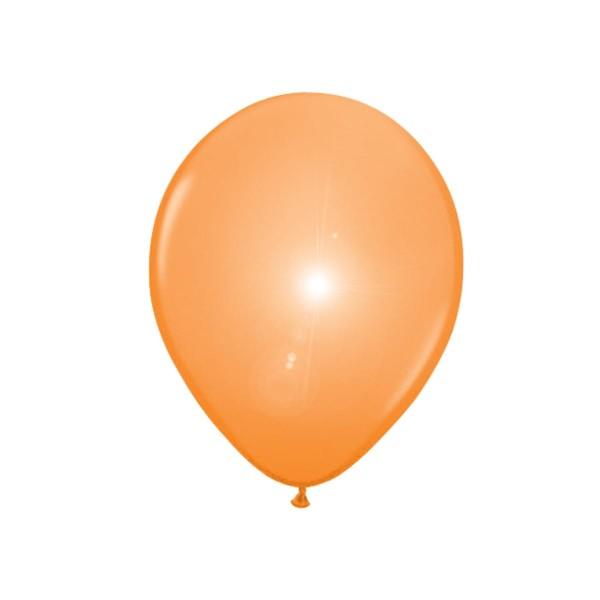 5 LED latex balloons orange 30cm