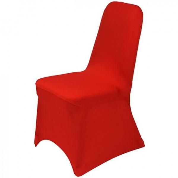 Stuhlhusse rot elastisch
