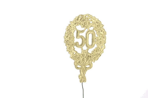 Goldene Jubiläumszahl 50 Geprägt 28cm