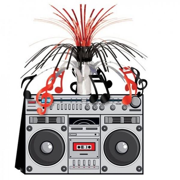 80er Jahre Radio Vibes Tischfontäne 23 x 36cm