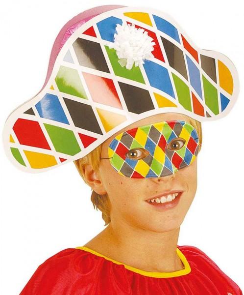 Harlekin Clowns Augenmaske Für Kinder