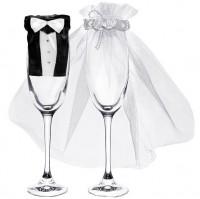 Braut & Bräutigam Glasdeko
